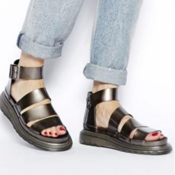 bdb24c2f4d Dr. Martens Shoes | Dr Martens Clarissa Platform Sandals 10 Pewter ...